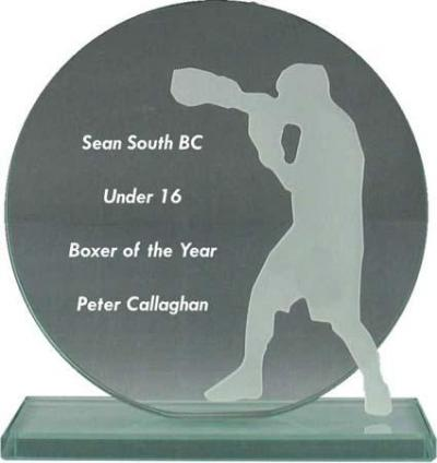 Circular Glass Boxing Award
