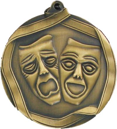 Drama Comedy & Tragedy Masks Medals