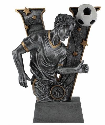 Silver Resin Soccer Trophy