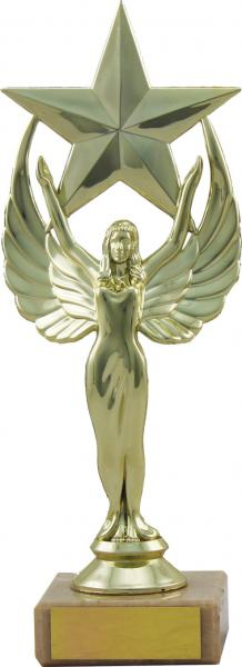 Gold Female Victor Statue with Star