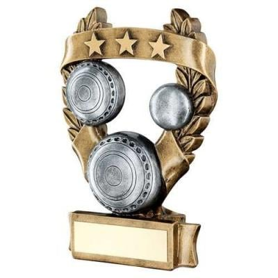 Bowls 3 Star Wreath Award Trophy