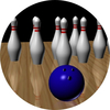 bowling medal centre sticker