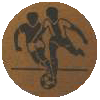 Soccer Medal Centre Sticker