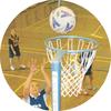 Netball Medal Centre Sticker