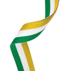 Green, White & Orange Ribbon