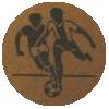 Soccer Medal Centre Sticker