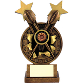 Bronze Resin Two Star Dart Trophie