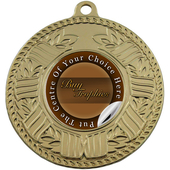 Wreath & Lines Medal Gold