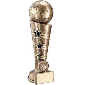 3 Star Football Column Trophy