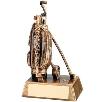 Bronze/Gold Deluxe Golf Bag Trophy