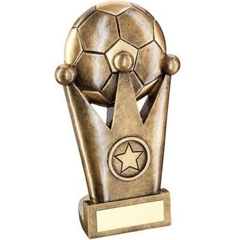 Bronze/Gold Football Crown Flatback Trophy