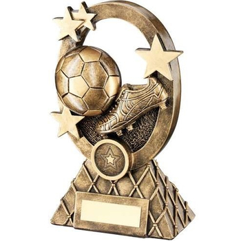 Bronze/Gold Football Oval/Stars Series Trophy