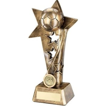Bronze/Gold Football Twisted Star Column Trophy