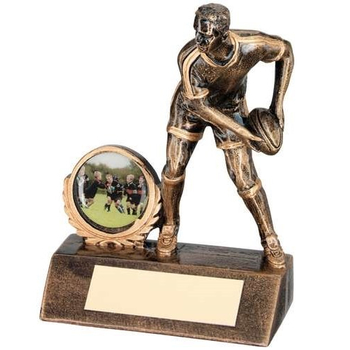 Bronze/Gold Mini Male Rugby Figure Trophy