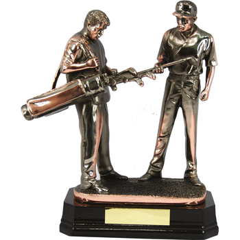 Golfer & Caddy Trophy