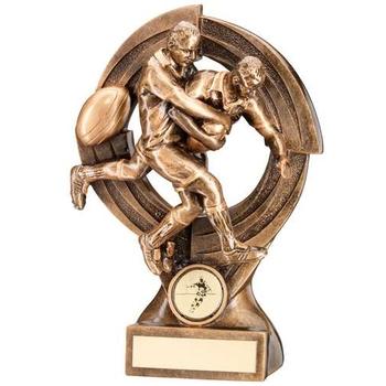 Bronze/Gold Rugby 'Quartz' Figure Trophy