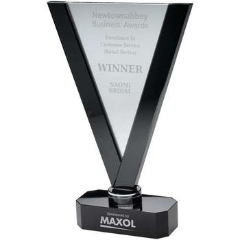 Corporate glass award