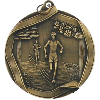 Gold running Medal