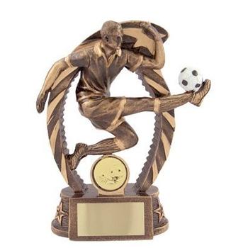 Bronze Football Trophy