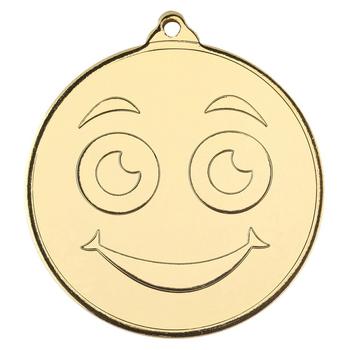 Smiley Face Gold Medal