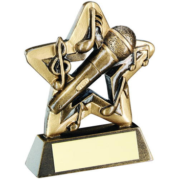 gold music star award