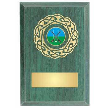 Foil Blocked Green Plaque