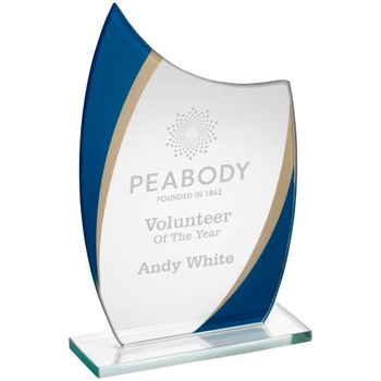 Jade Glass Curved Plaque