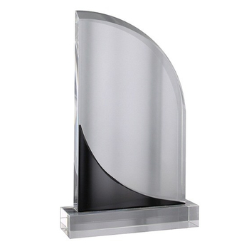Black & Clear Crystal Plaque