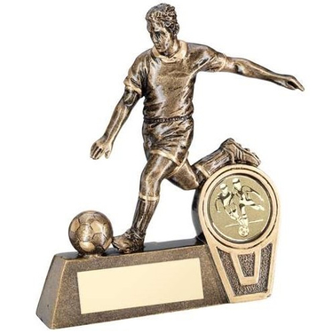 Bronze/Gold Mini Male Action Football Figure