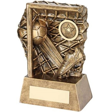 Bronze/Gold Football Kicked To Goal Trophy