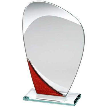 Jade Red Glass Plaque