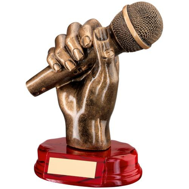 Gold Microphone Trophy