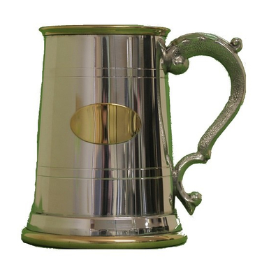 Pewter Tankard With Gold trim